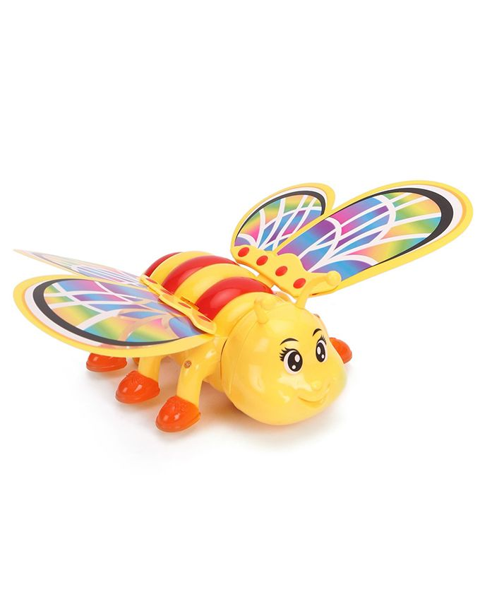 Battery Operated Bee With Lights - Yellow