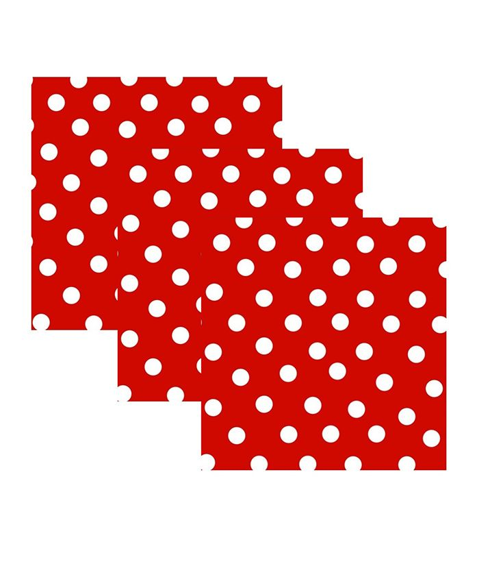 Party Anthem Paper Napkin Polka Dot - Red & White