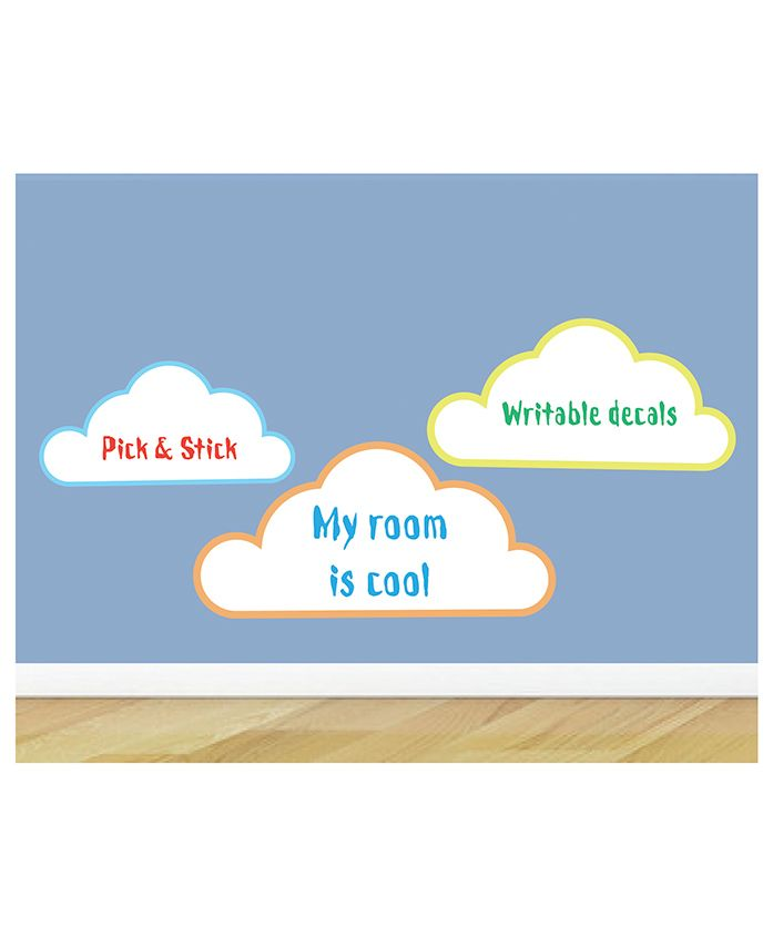 Little Jamun Writable Wall Sticker With Free Marker Pack Of 3 - White