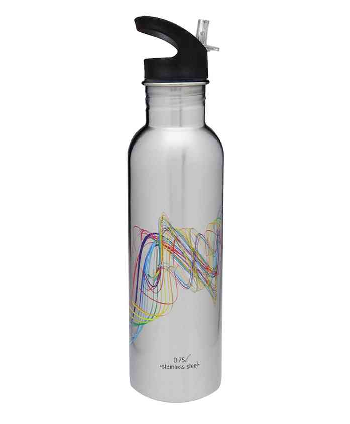 Hot Muggs Water Bottle With Sipper Grey - 750 ml