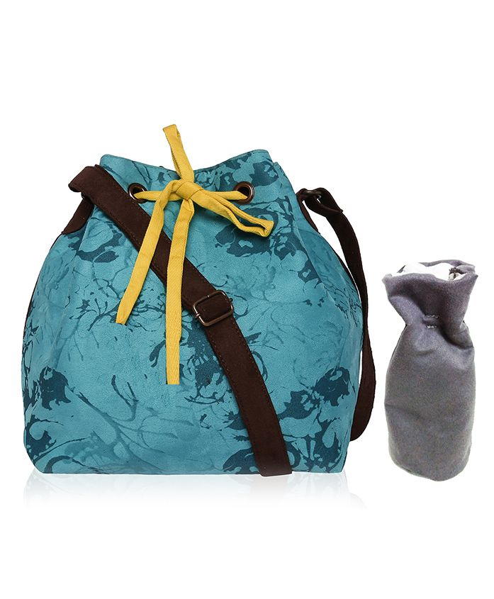 Lost & Found Mini Bag with Bottle Cover - Blue & Grey