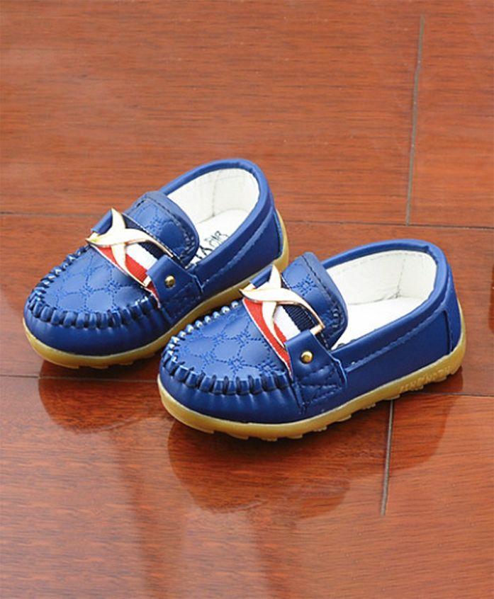 Wonderland English Style Slip On Shoes - Blue