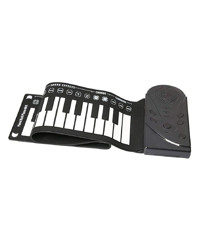 Skylofts Silicon Roll Up Piano - Black