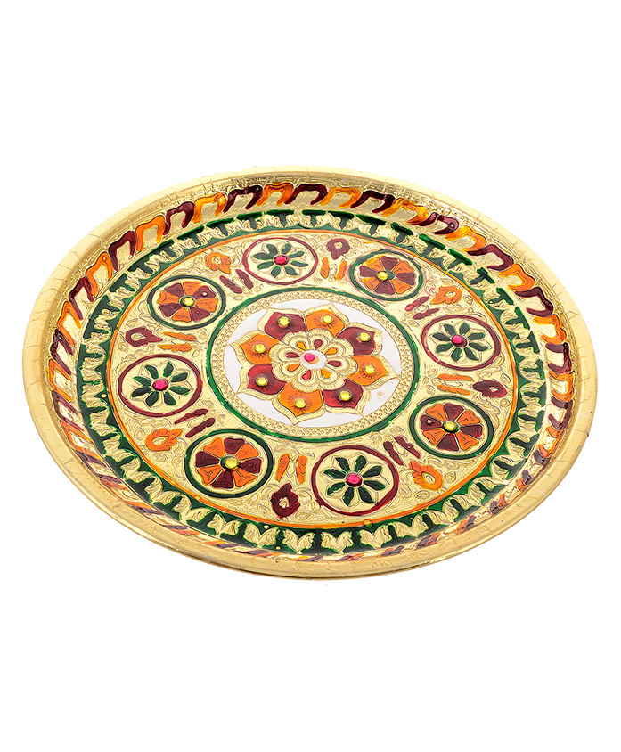 Little Palz Rangoli Design Thali - Multicolor