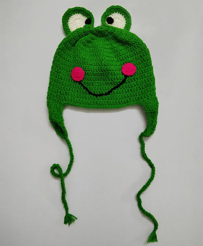 Knit Masters Tie Knot Woolen Cap - Green