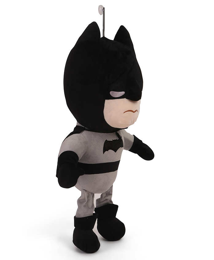 DC Comics Batman Plush Soft Toy With Vacuum Suckers - Black & Grey