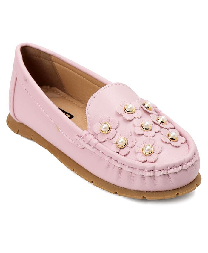 Cute Walk by Babyhug Loafers With Flower Motif - Pink