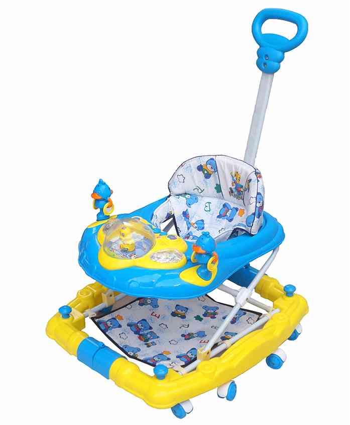 Funride 6 in 1 Baby Walker With Parental Handle - Blue