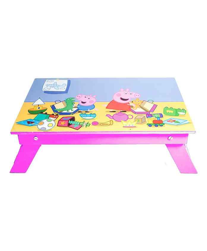 Lill Pumpkins Folding Study Table Peppa Pig Print - Fuchsia