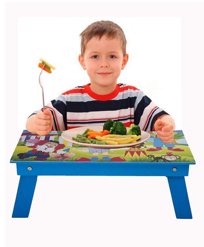 Lill Pumpkins Folding Study Table Circus Print - Blue