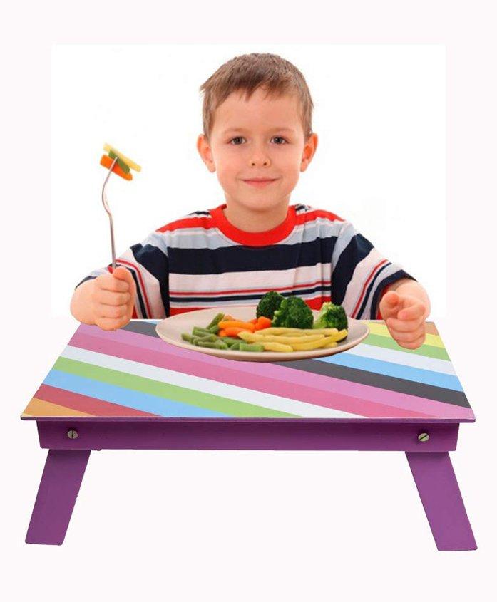 Lill Pumpkins Striped Folding Study Table - Pink