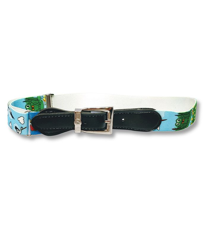 Kid-O-World Stretchable Printed Belt - Light Blue