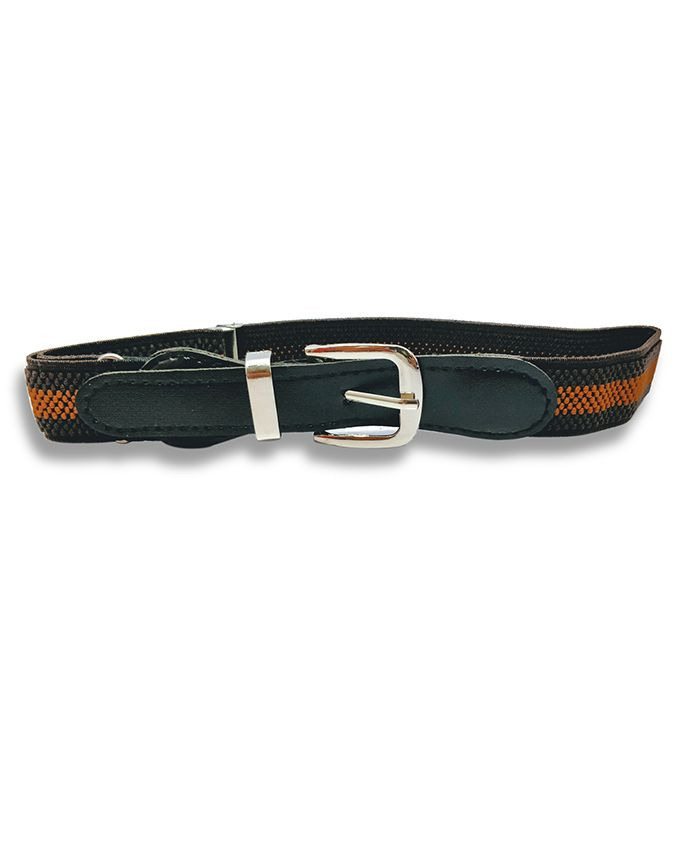 Kid-O-World Stretchable Striped Belt - Dark Brown