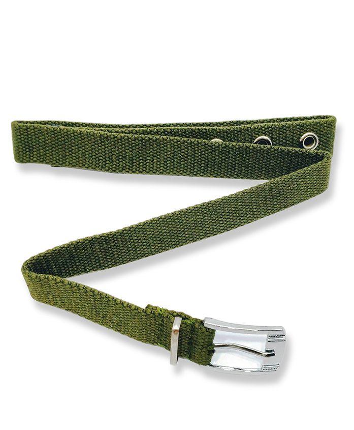 Kid-O-World Cotton Buckle Closure Belt - Green