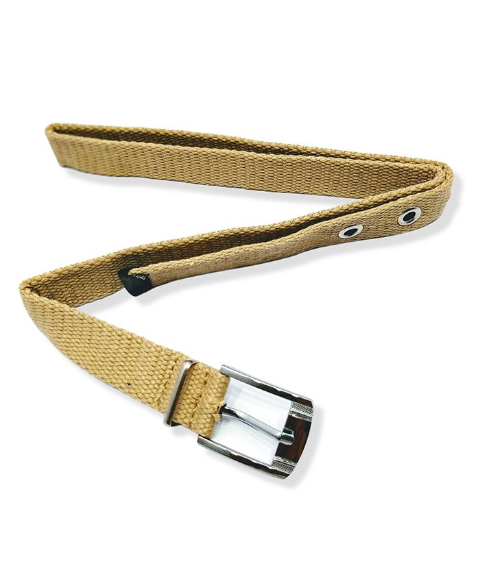 Kid-O-World Cotton Buckle Closure Belt - Cream