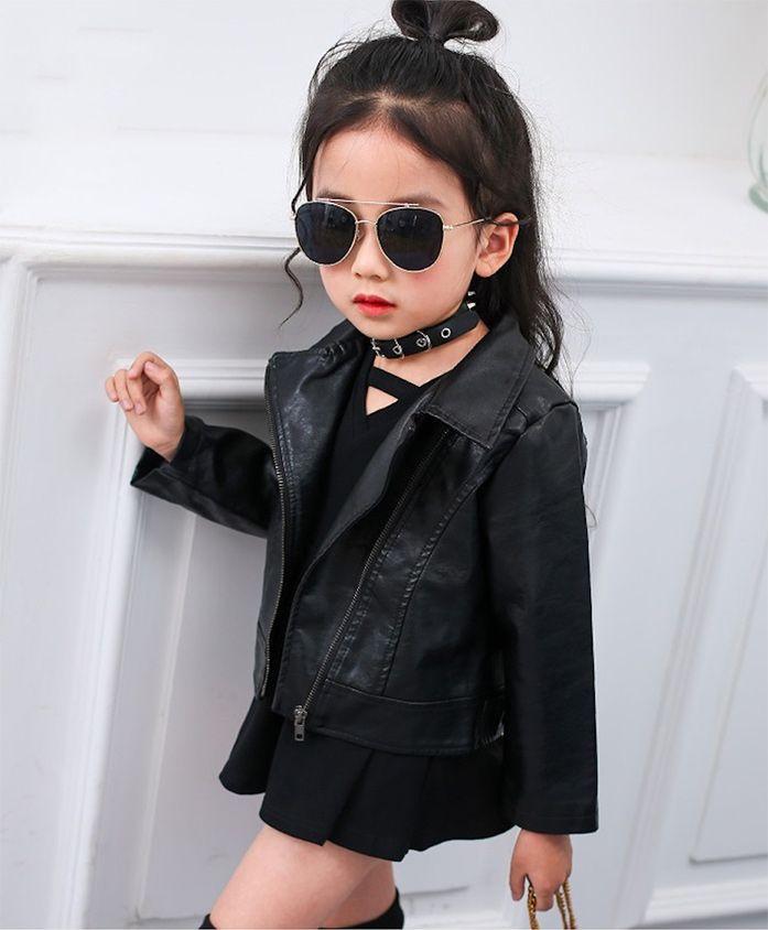 Pre Order - Awabox Solid Leather Full Sleeves Jacket - Black