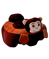 Babymoon Cushion Seat Monkey Design - Red Orange
