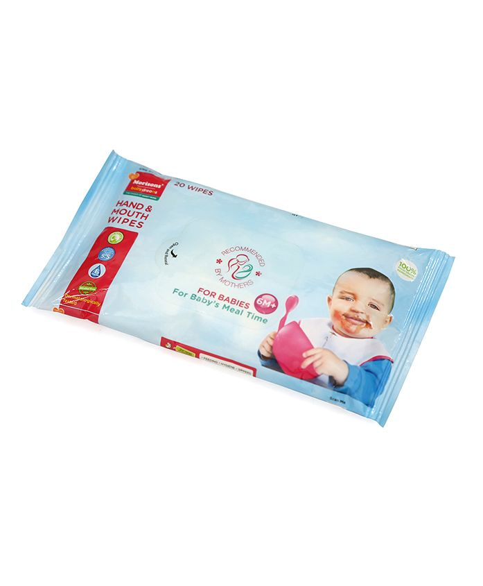 Morisons Baby Dreams Hand & Mouth Wipes - 20 pieces