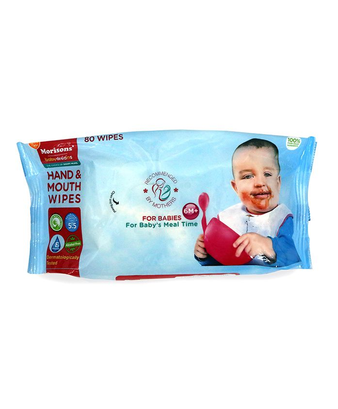 Morisons Baby Dreams Hand & Mouth Wipes - 80 pieces