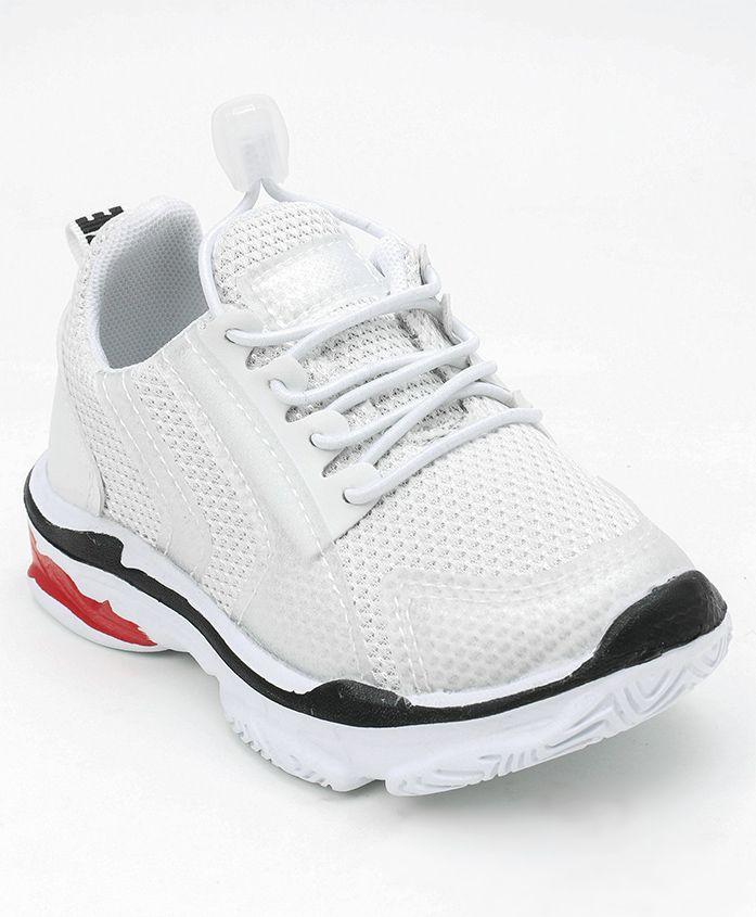 Cute Walk by Babyhug Sports Shoes - White