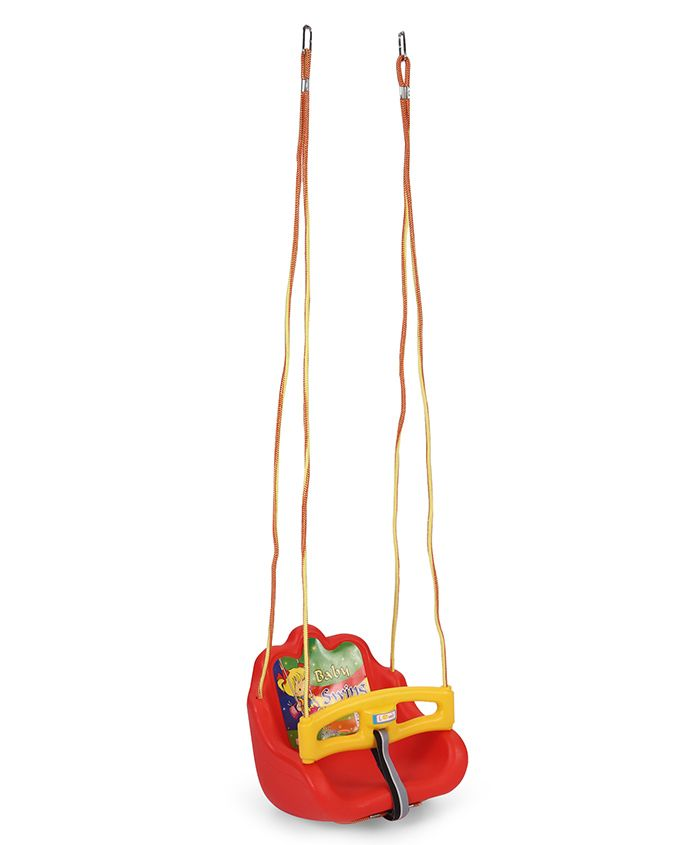 Lovely Baby Swing Cartoon Print - Red