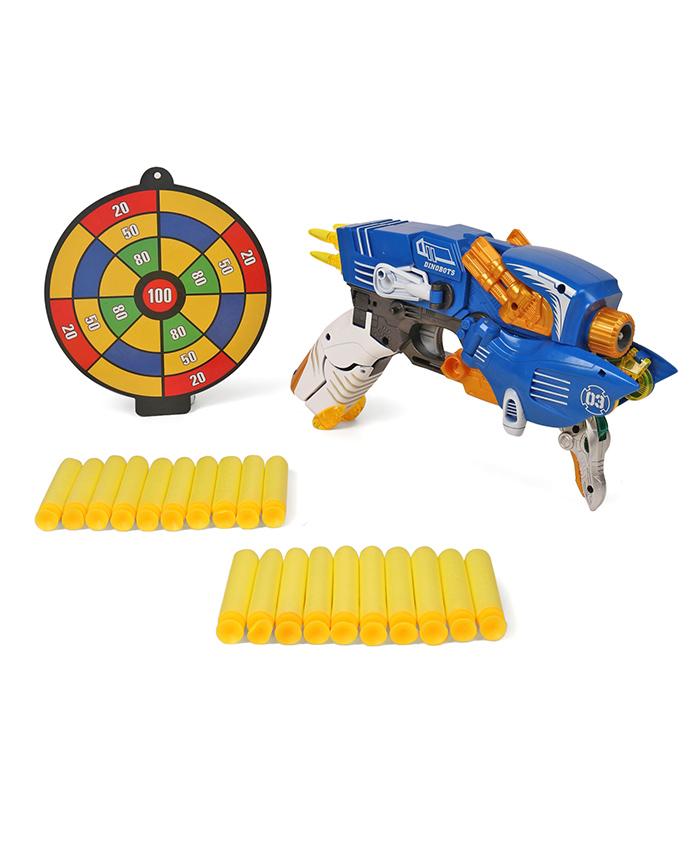 TurboS Transforming Dino Blaster Gun - Blue