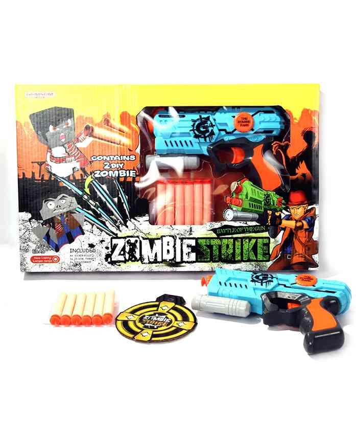Toys Bhoomi Rapid Fire Soft Bullet Gun - Blue