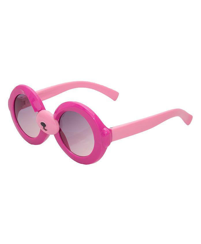 Kidofash Round Sunglasses - Dark Pink