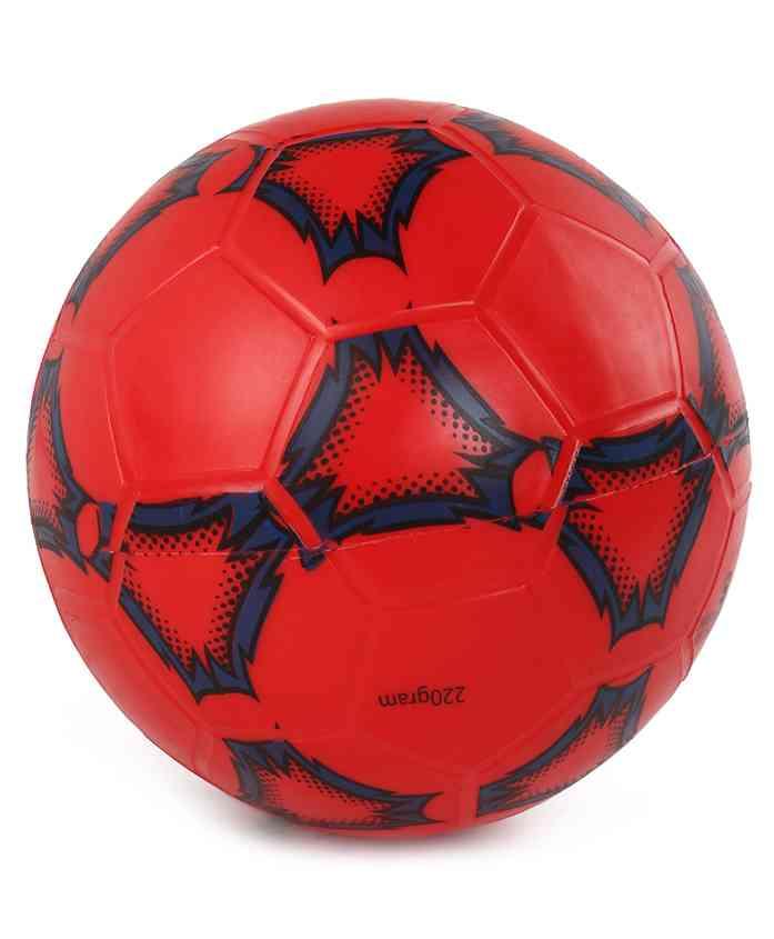 Football Shape PVC Ball - Red