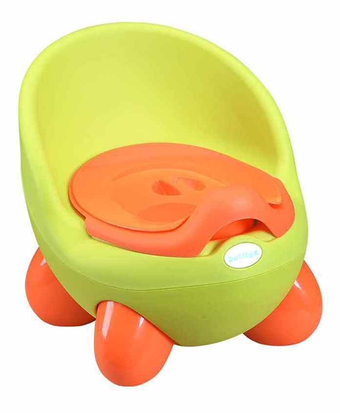 Potty Chair With Lid And High Backrest - Green