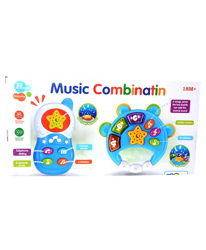Vibgyor Vibes Musical Toy With Starry Night Projector - (Color May Vary)