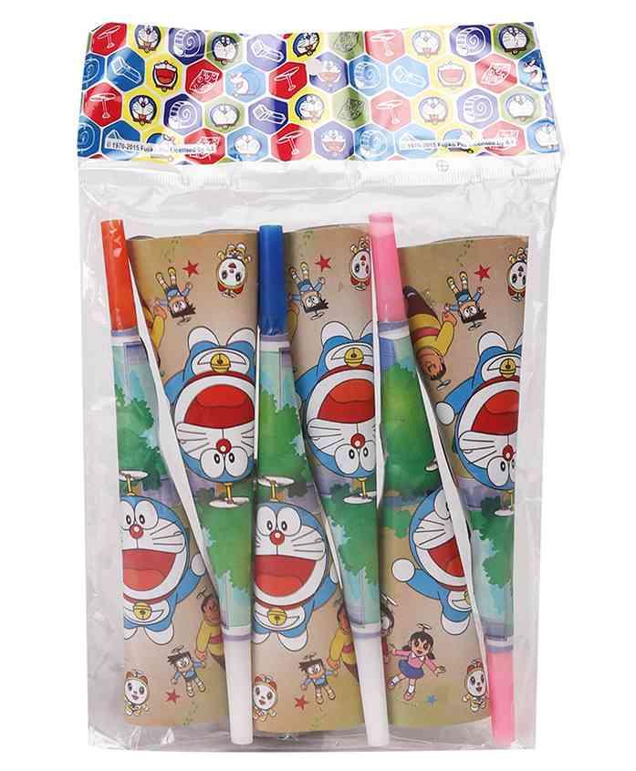 Doraemon Party Paper Horn Multicolour - 6 Pieces