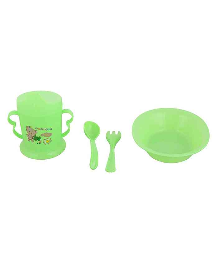 Home Union Feeding Set Green - Pack of 4