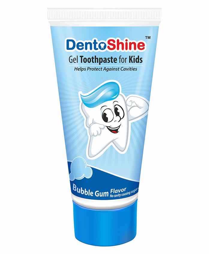 DentoShine Bubble Gum Flavoured Gel Toothpaste - 80 gm