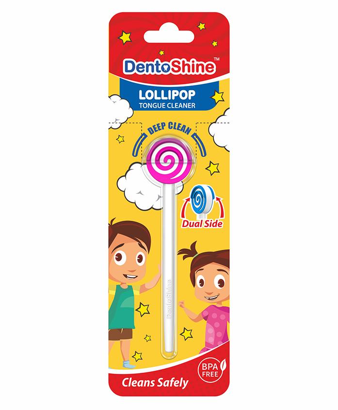 DentoShine Doraemon Lollipop Tongue Cleaner - Pink