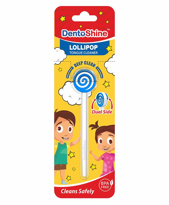 DentoShine Doraemon Lollipop Tongue Cleaner - Blue