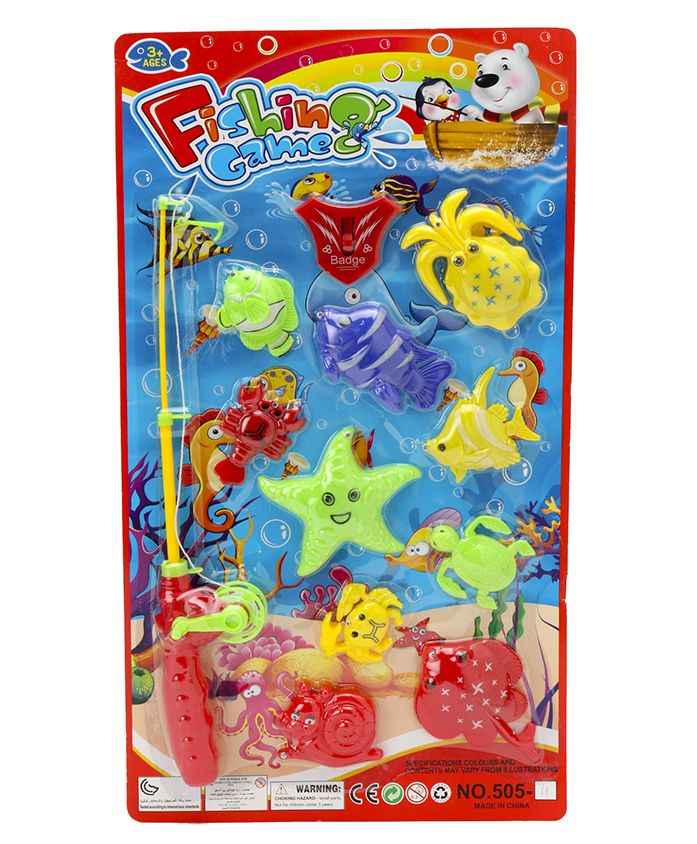 Marbles Big Fishing Game Multicolor - Pack of 12