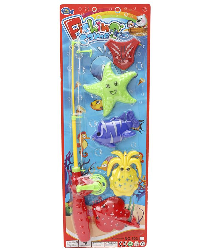 Marbles Fishing Game Multicolor - Pack of 6