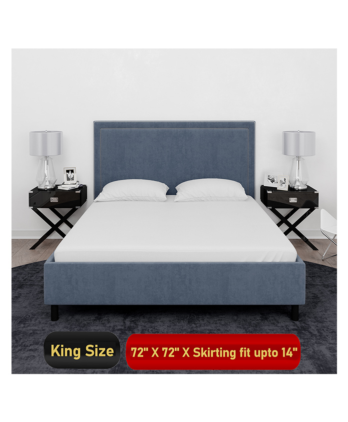 Mattress Protector Waterproof Mattress Cover Double Bed For King Size 72 x 72 inches - White