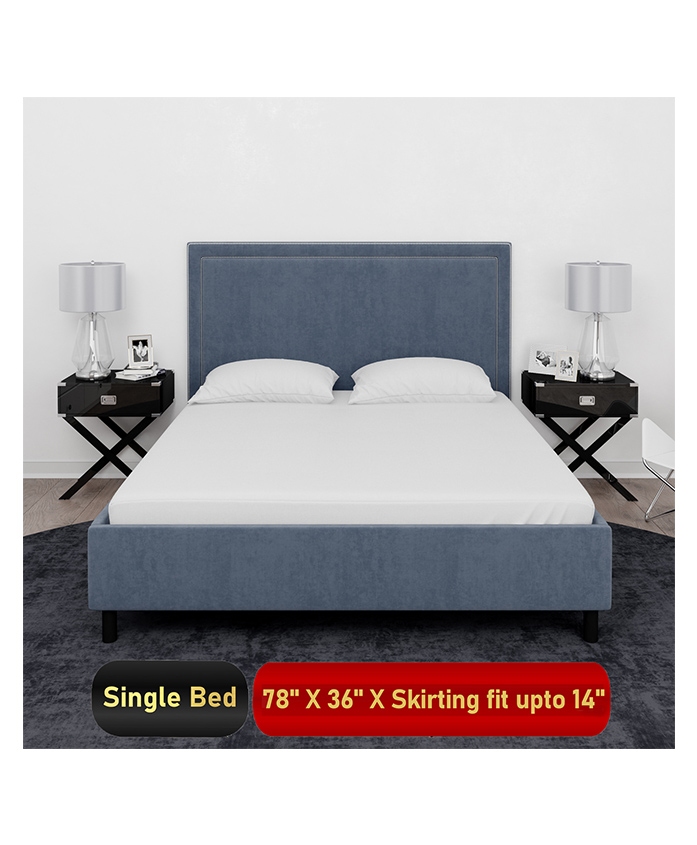 Mattress Protector Waterproof Mattress Cover Single Bed For Bed Size 78 x 36 inches - White