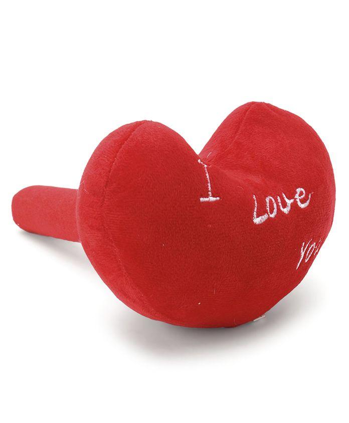 Heart Shape Plush Musical Hammer - Red