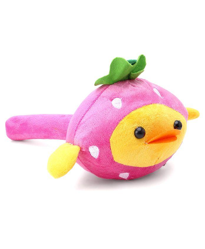 Duck Face Plush Musical Hammer - Pink Yellow