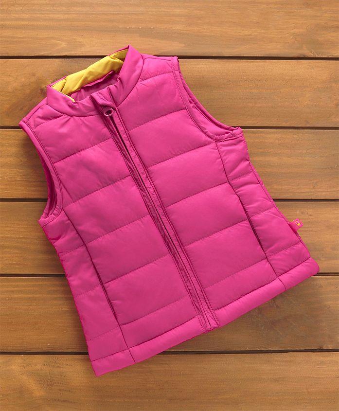 UCB Sleeveless Quilted Jacket - Fuchsia