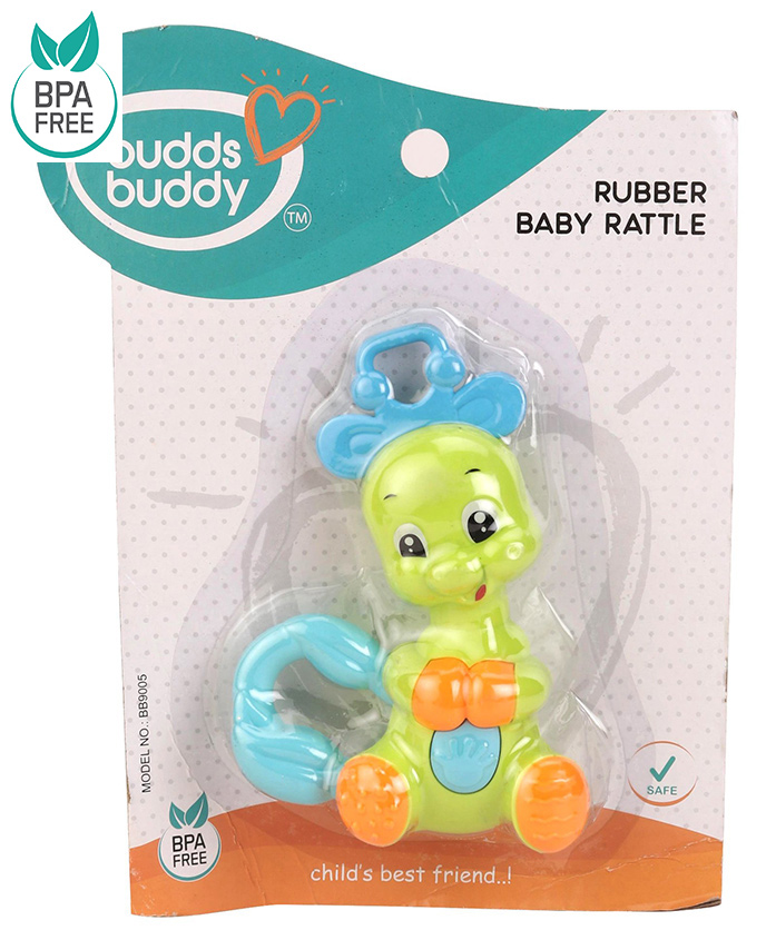 Buddsbuddy Animal Shaped Baby Rattle - Green