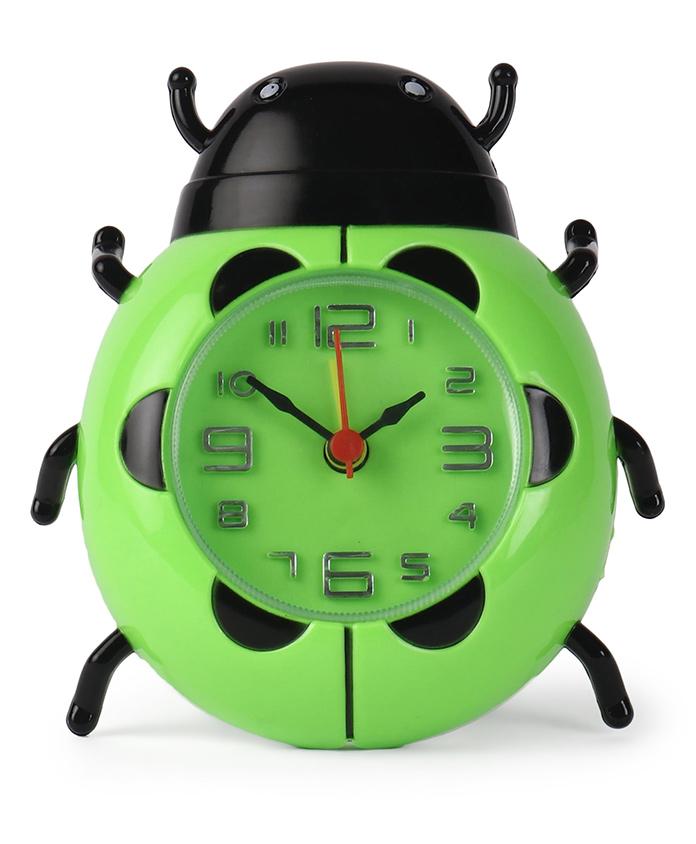 Bug Shaped Alarm Clock - Green & Black