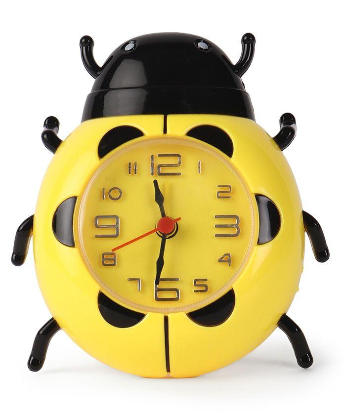 Bug Shaped Alarm Clock - Yellow & Black