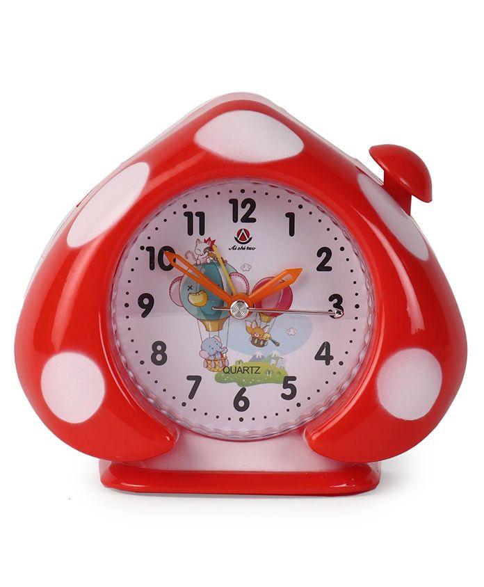 Leaf Shaped Alarm Clock - Red