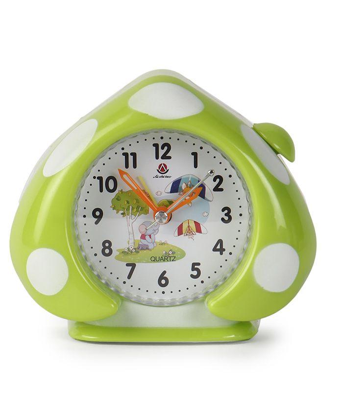 Leaf Shaped Alarm Clock - Green