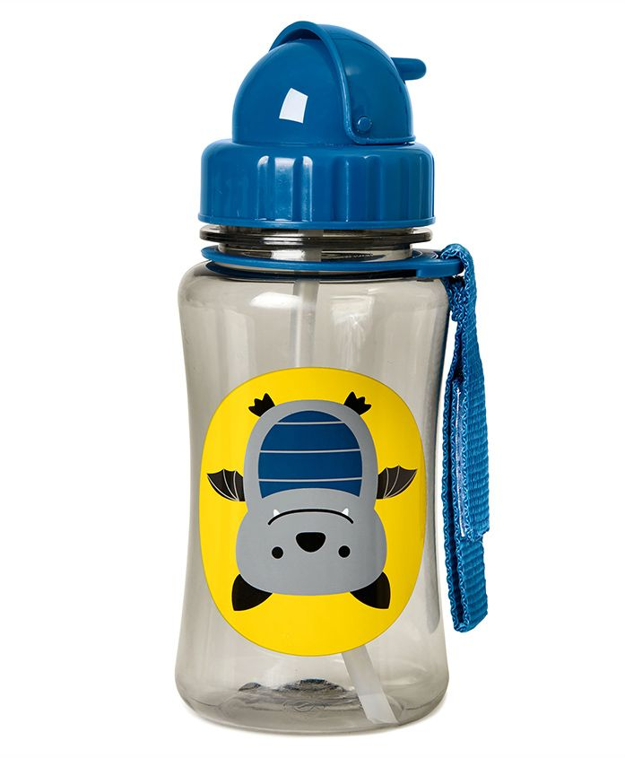 Skiphop Bat Design Sipper Bottle Blue - 350 ml
