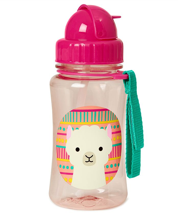Skiphop Llama Design Sipper Bottle Pink - 350 ml